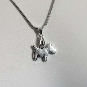 Sterling Silver 925 dog necklace